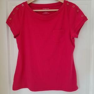 Talbots Bright Pink Tee Shirt